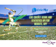 Top and  reliable API for Cricket applications